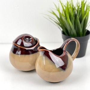 SANGO Pottery Vintage Creamer Set Nova Brown